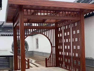 新中式凉亭和铝合金雨棚和铝合金阳光房以及铝艺大门厂家-潍坊联洋金属制品有限公司(浩润门业)